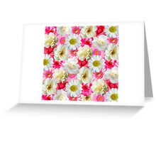 Pink & white flowers Greeting Card