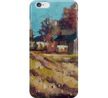 Long Shadows on the Hay Rolls iPhone Case/Skin
