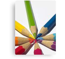 coloured Pencils spiral Canvas Print