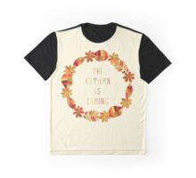 The autumn is coming floral frame Graphic T-Shirt