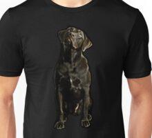 black dog Unisex T-Shirt