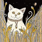 Chat Blanc by Anita Inverarity