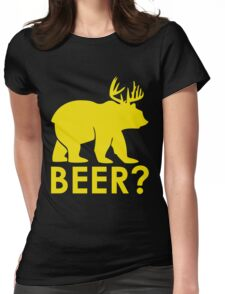 BEER? BEAR? Womens Fitted T-Shirt