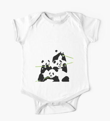 Pandas One Piece - Short Sleeve