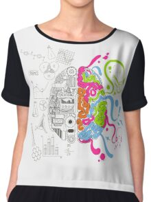 Brain Creativity Chiffon Top