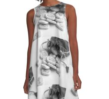 black and white runes runestones A-Line Dress