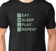 Guitar player routine (green) Unisex T-Shirt
