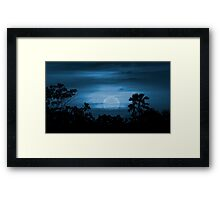 Moonscape Silhouette Ilustration Print Framed Print