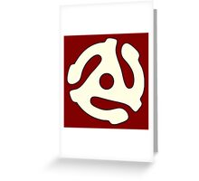 vinyl record white adapter Greeting Card