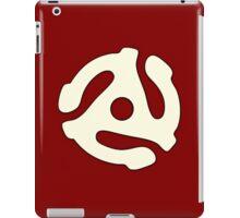 vinyl record white adapter iPad Case/Skin
