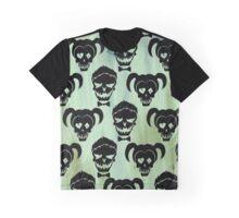 Suicide Squad Harley Quinn & Joker Skulls Graphic T-Shirt