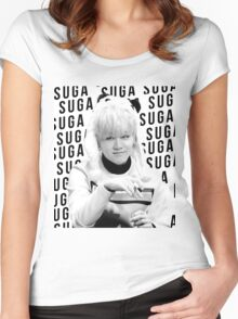 BTS Suga Women's Fitted Scoop T-Shirt