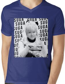BTS Suga Mens V-Neck T-Shirt