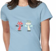 Angel / Devil Chance meeting Womens Fitted T-Shirt