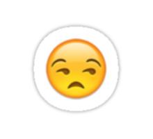 Sideways Eyes Emoji Sticker