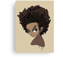 Huey Freeman - Black Power Canvas Print