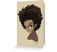Huey Freeman - Black Power Greeting Card