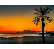 Sunset over Estepona, Andalusia, Spain Photographic Print