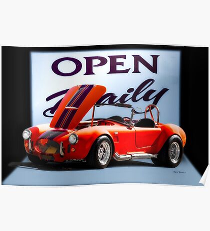 1965 Shelby Cobra 'Open Daily' Roadster Poster