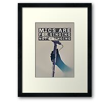 """Brand New (Band) """"Mics Are For Singing"""" Poster Framed Print"""