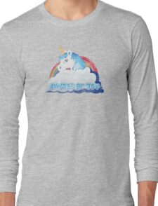 Central Intelligence - Unicorn (Faded as worn in the film) Bob Stone Long Sleeve T-Shirt