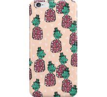 Pineapple - Pink by Andrea Lauren iPhone Case/Skin