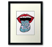 Drop Acid Not Bombs Framed Print