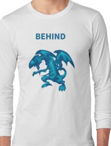 Behind Blue-Eyes W. Dragon Long Sleeve T-Shirt