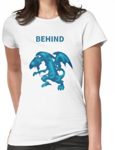 Behind Blue-Eyes W. Dragon Womens Fitted T-Shirt