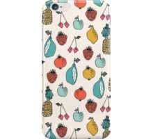 Tutti Fruit Pattern - Cream by Andrea Lauren iPhone Case/Skin