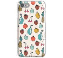 Tutti Fruit Pattern - Cream by Andrea Lauren iPhone Case/Skin