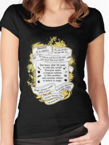 OUAT quotes. Once Upon A Time. V3. Women's Fitted Scoop T-Shirt