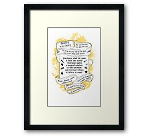 OUAT quotes. Once Upon A Time. V3. Framed Print