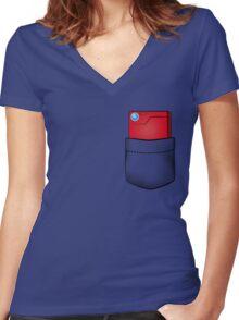 Pokedex in my pocket Women's Fitted V-Neck T-Shirt