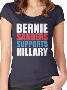 Bernie Sanders - Hillary Clinton Women's Fitted Scoop T-Shirt