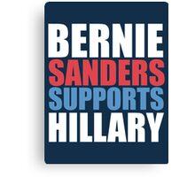 Bernie Sanders - Hillary Clinton Canvas Print