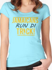Jamaicans Run Di Track Women's Fitted Scoop T-Shirt