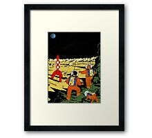 Explorers on the Moon Framed Print