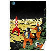 Explorers on the Moon Poster