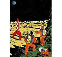 Explorers on the Moon Photographic Print