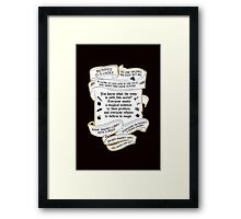 OUAT quotes. Once Upon A Time. V4. Framed Print