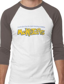 Dont Mind Me, Im Just Catching Invisible MONSTERS Men's Baseball ¾ T-Shirt