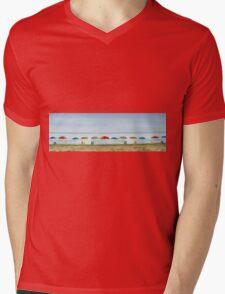 Deserted beach. Mens V-Neck T-Shirt