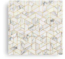 Hexagonal geometric marble Canvas Print
