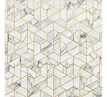 Hexagonal geometric marble Photographic Print