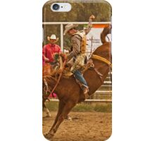 Rodeo A Wild Horse Kicks Its Back Legs High in the Air iPhone Case/Skin
