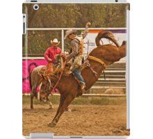Rodeo A Wild Horse Kicks Its Back Legs High in the Air iPad Case/Skin