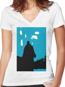 Shadow Figure Women's Fitted V-Neck T-Shirt