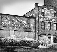 Find Your Coals in Downtown Durham Black and White by Kadwell