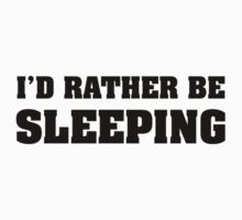 I'd Rather Be Sleeping One Piece - Short Sleeve